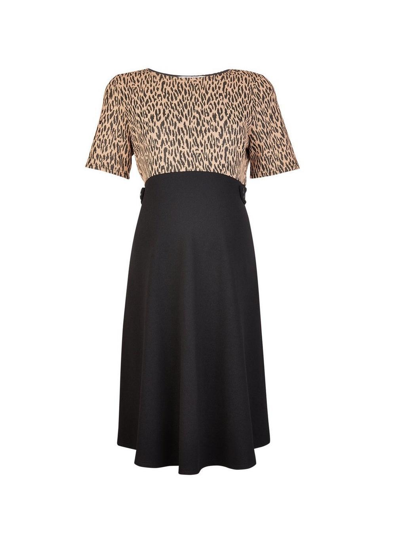 fcd3ceb6c9 Dorothy Perkins. Women s White Maternity Multi Coloured Leopard Print 2-in-1  Dress