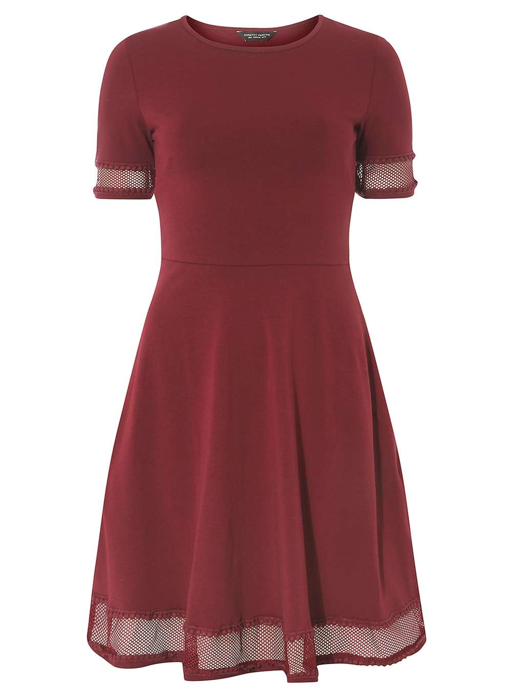 dorothy perkins berry lace detail dress lyst