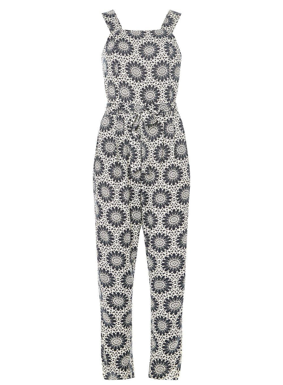 54c9b863c37f Lyst - Dorothy Perkins Monochrome Tile Print Jumpsuit in Black
