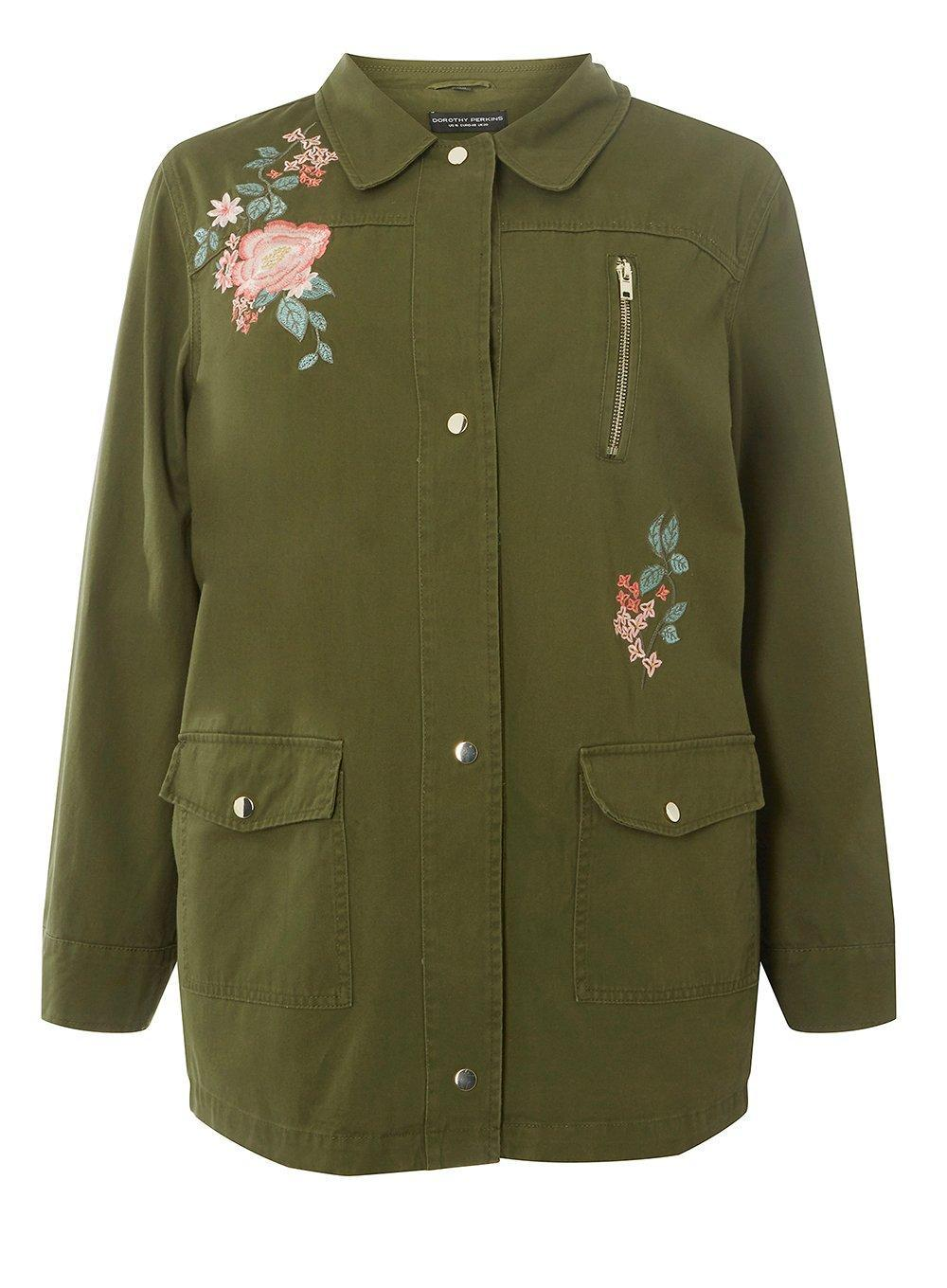 Best Prices Sale Online Dorothy Perkins Womens **Maternity Embroidered Shacket- New Styles Online bCLt45QX