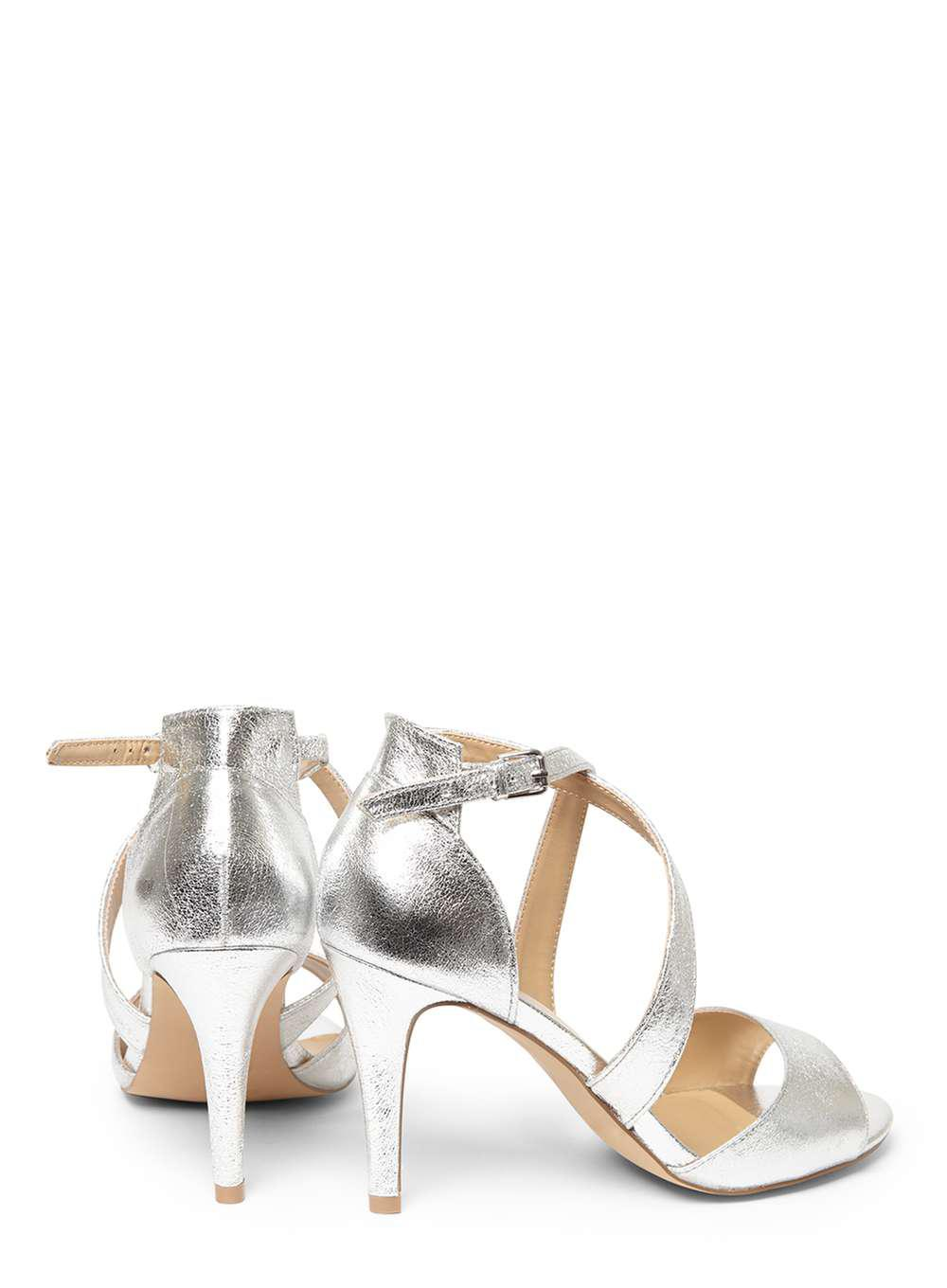 73685468ef712 Dorothy Perkins Wide Fit Silver 'sasha' Sandals in Metallic - Lyst