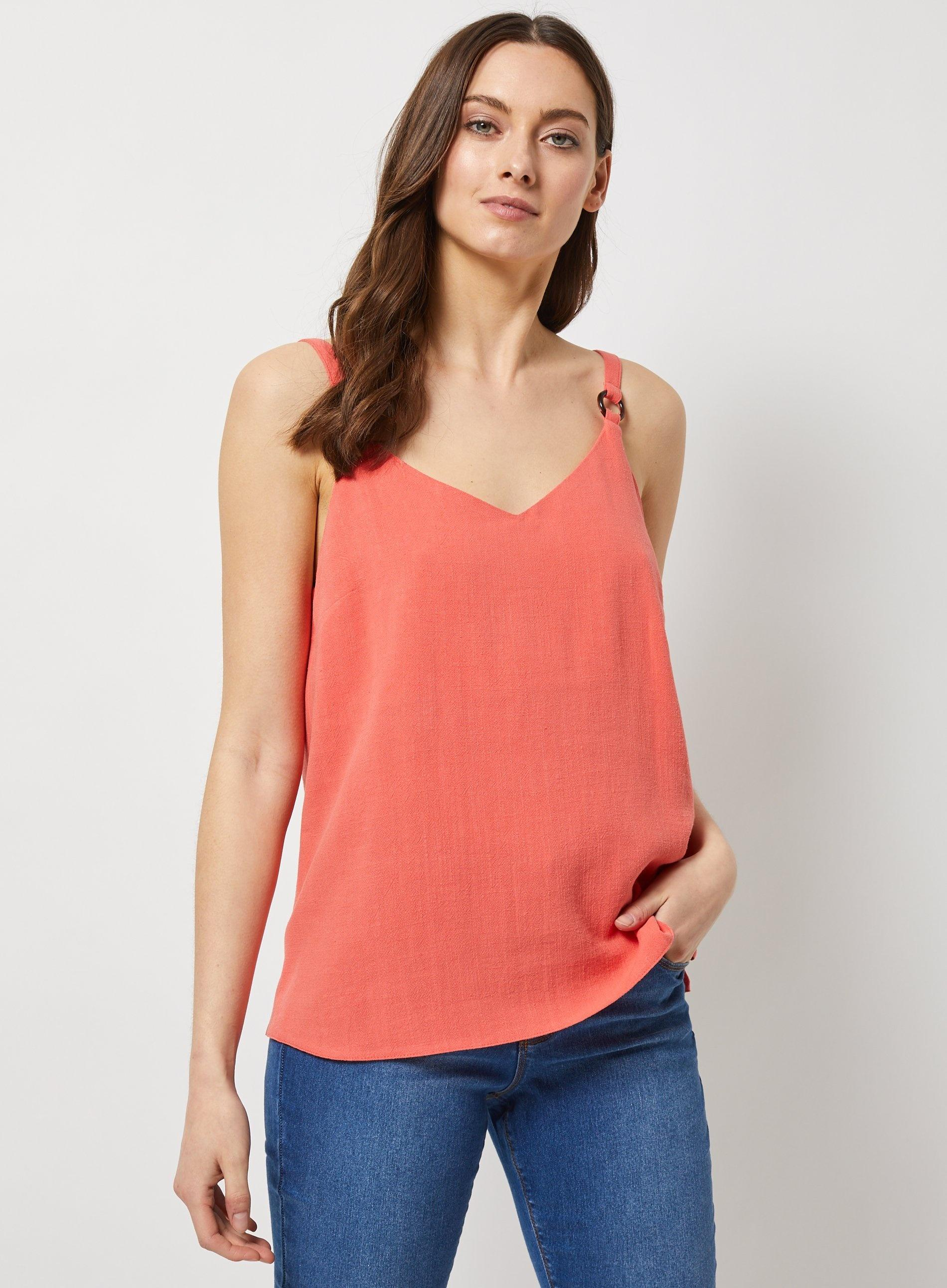 995eb6673da097 Dorothy Perkins - Pink Coral Ring Strap Camisole Top - Lyst. View fullscreen