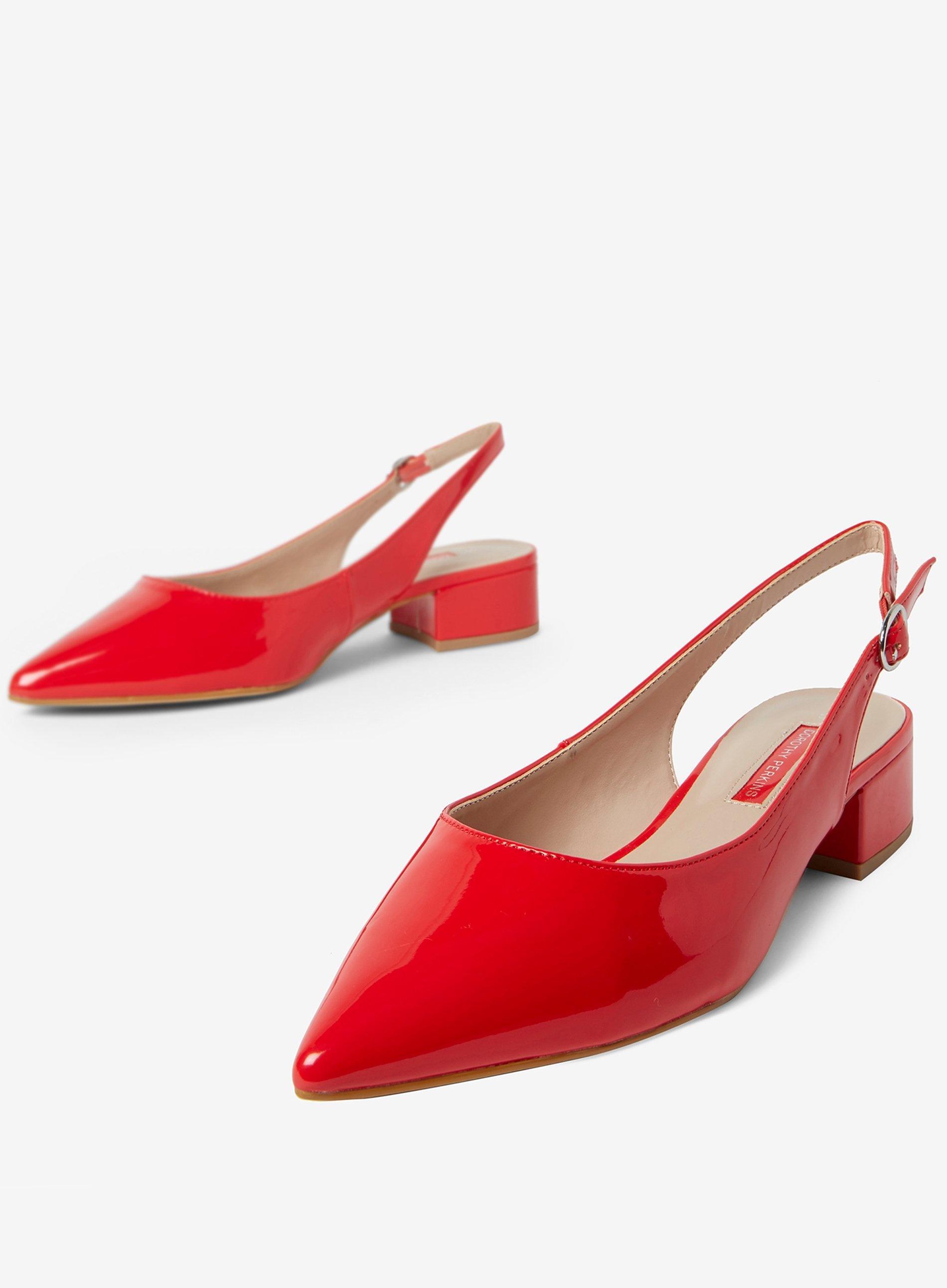 fa7ba6165f Dorothy Perkins - Red 'daphne' Block Heel Court Shoes - Lyst. View  fullscreen