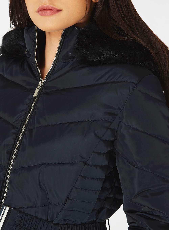a335667d4e7d6 Dorothy Perkins Petite Black Plush Faux Fur Jacket Affordable