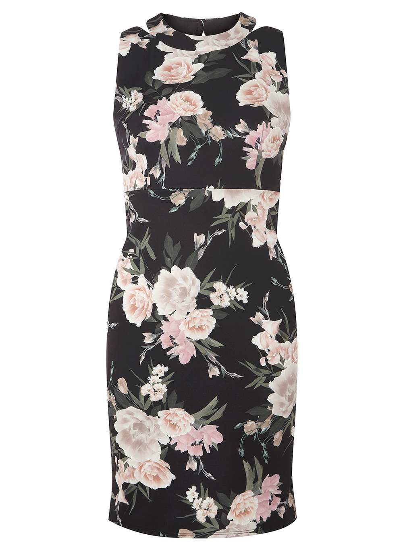 dorothy perkins floral dress in black lyst
