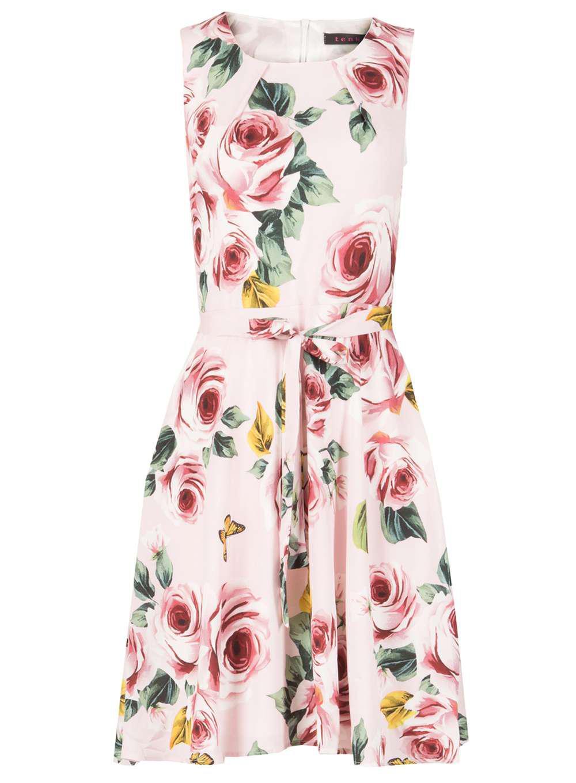 Lyst - Dorothy Perkins Tenki Pink Floral Skater Dress in Pink 9bc9695c2