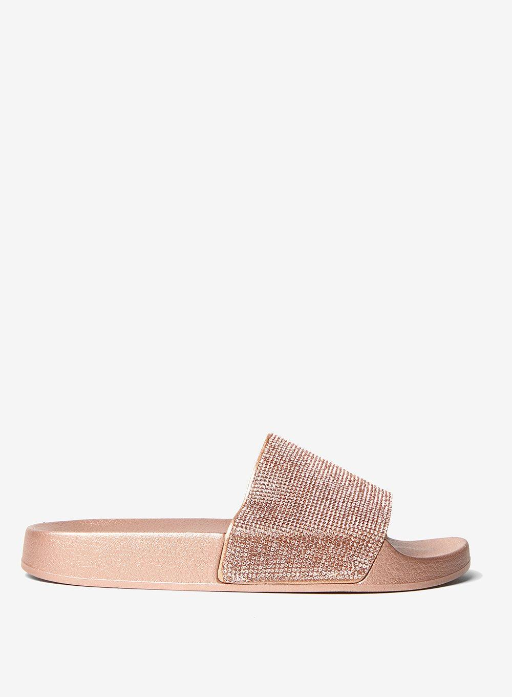 bc9276421917 Dorothy Perkins Rose  frenchy  Diamante Slider Sandals in Pink - Lyst