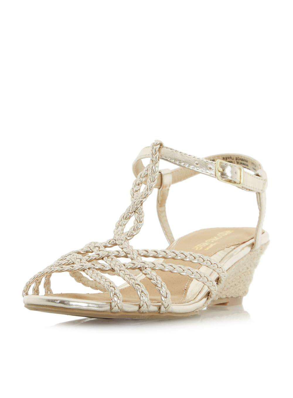 0c8c73f0b Lyst - Dorothy Perkins Head Over Heels By Dune Gold  kitti  Wedge ...