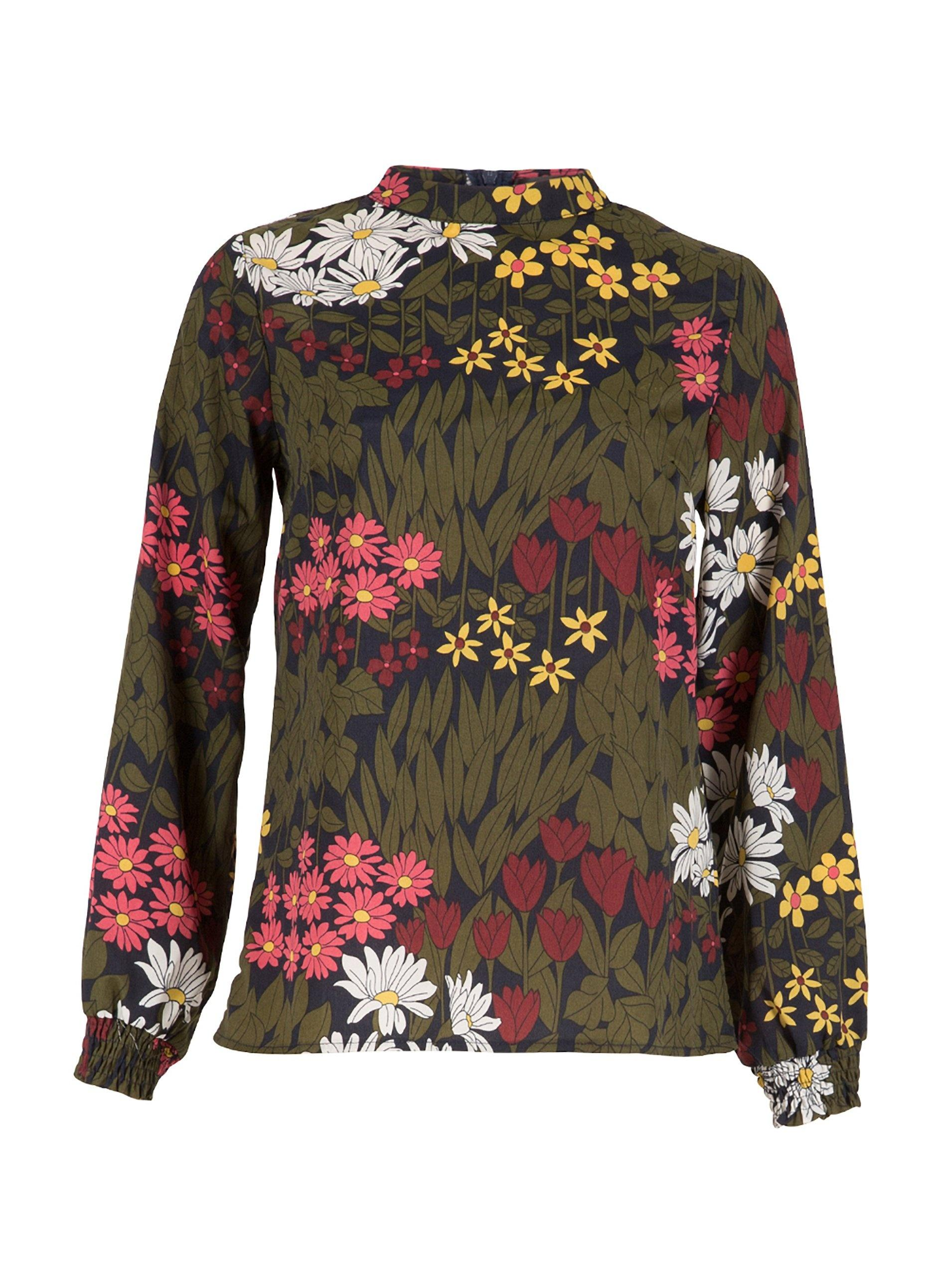 5a63d3fd5be5 Dorothy Perkins Tenki Green Floral Print Top in Green - Lyst