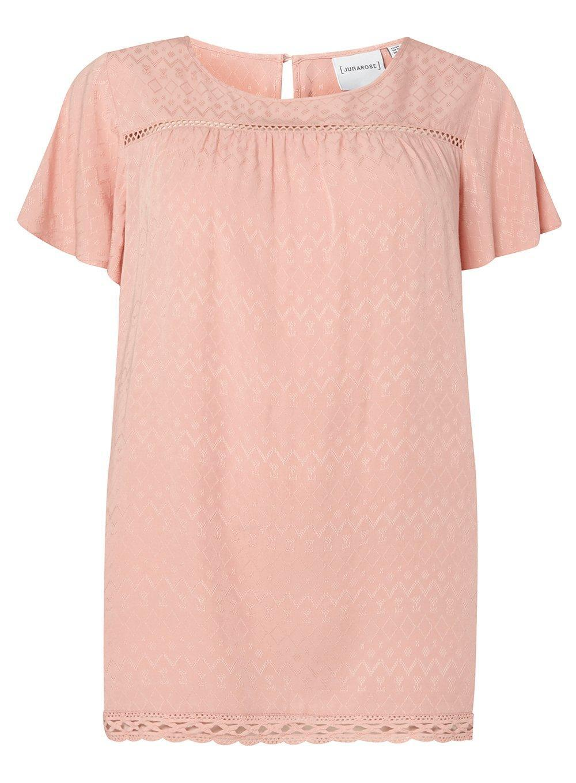 a71941a324a7fc Lyst - Dorothy Perkins Juna Rose Peach Lace Trim Top in Pink