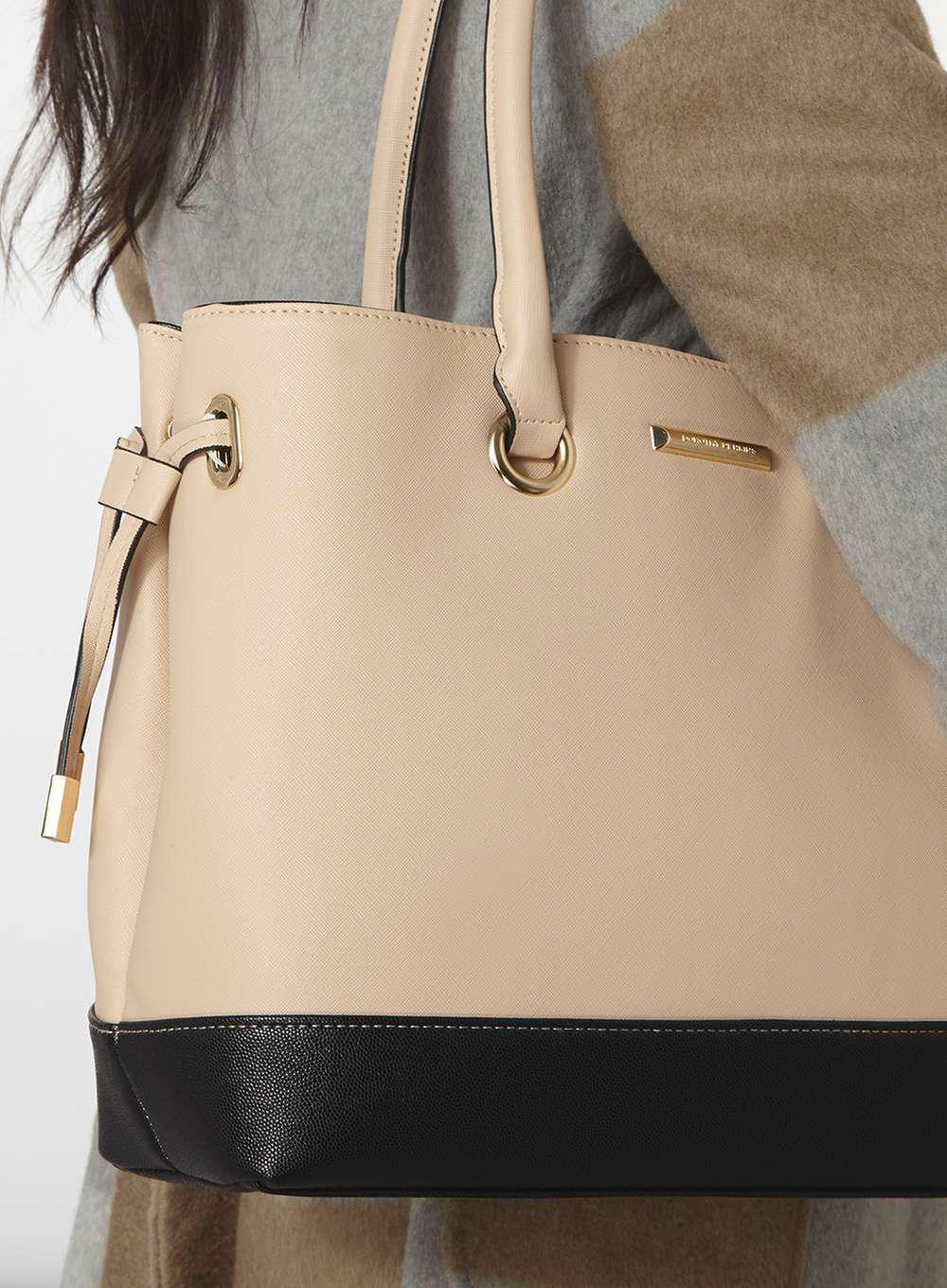 Lyst - Dorothy Perkins Neutral Tie Side Tote Bag in White