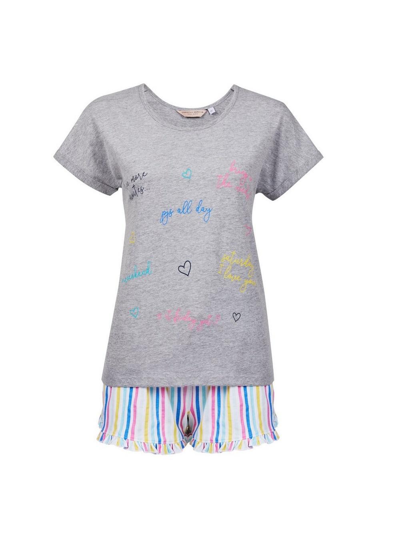 dd2505a58d62 Lyst - Dorothy Perkins Multi Coloured  rainbow  Slogan Pyjamas in Gray