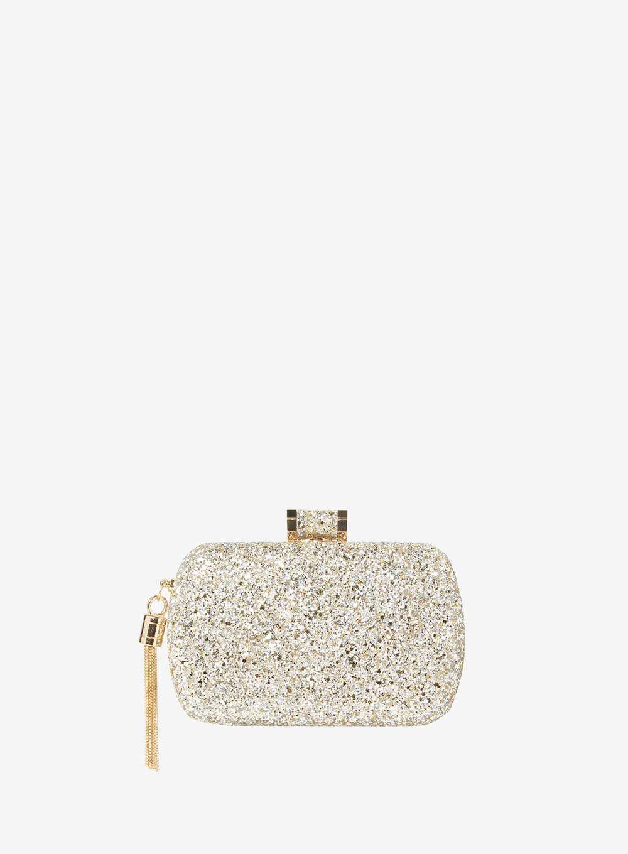 Dorothy Clutch Perkins Metallic Bag In Glitter Box Lyst Gold zq5dz7