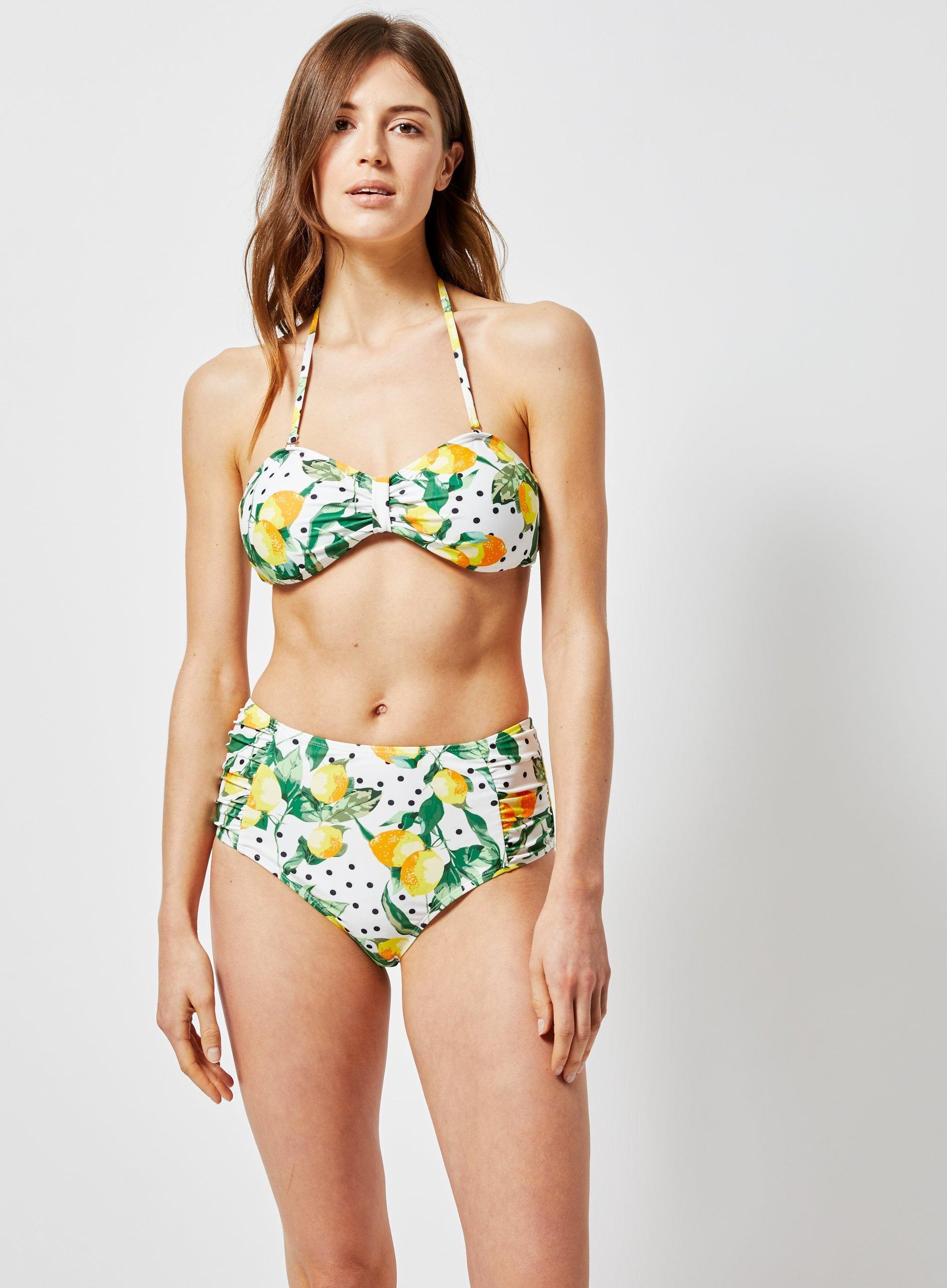 51f7705d234c5 ... Dp Beach White Lemon And Polka Dot Print Bikini Top - Lyst. View  fullscreen