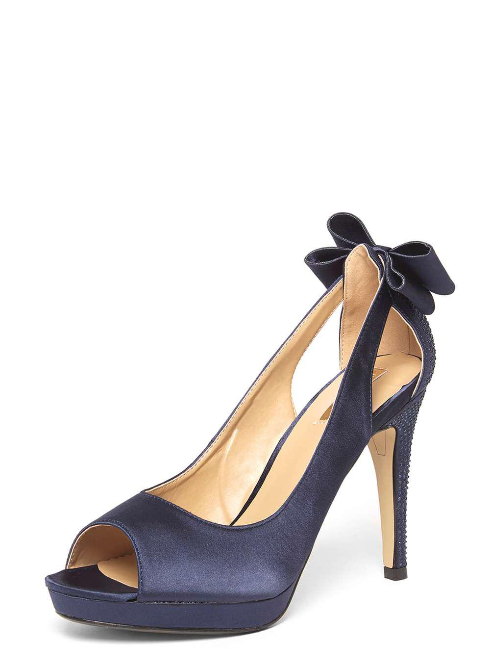 Dorothy Perkins Navy Microfibre 'Dallas' Court Shoes