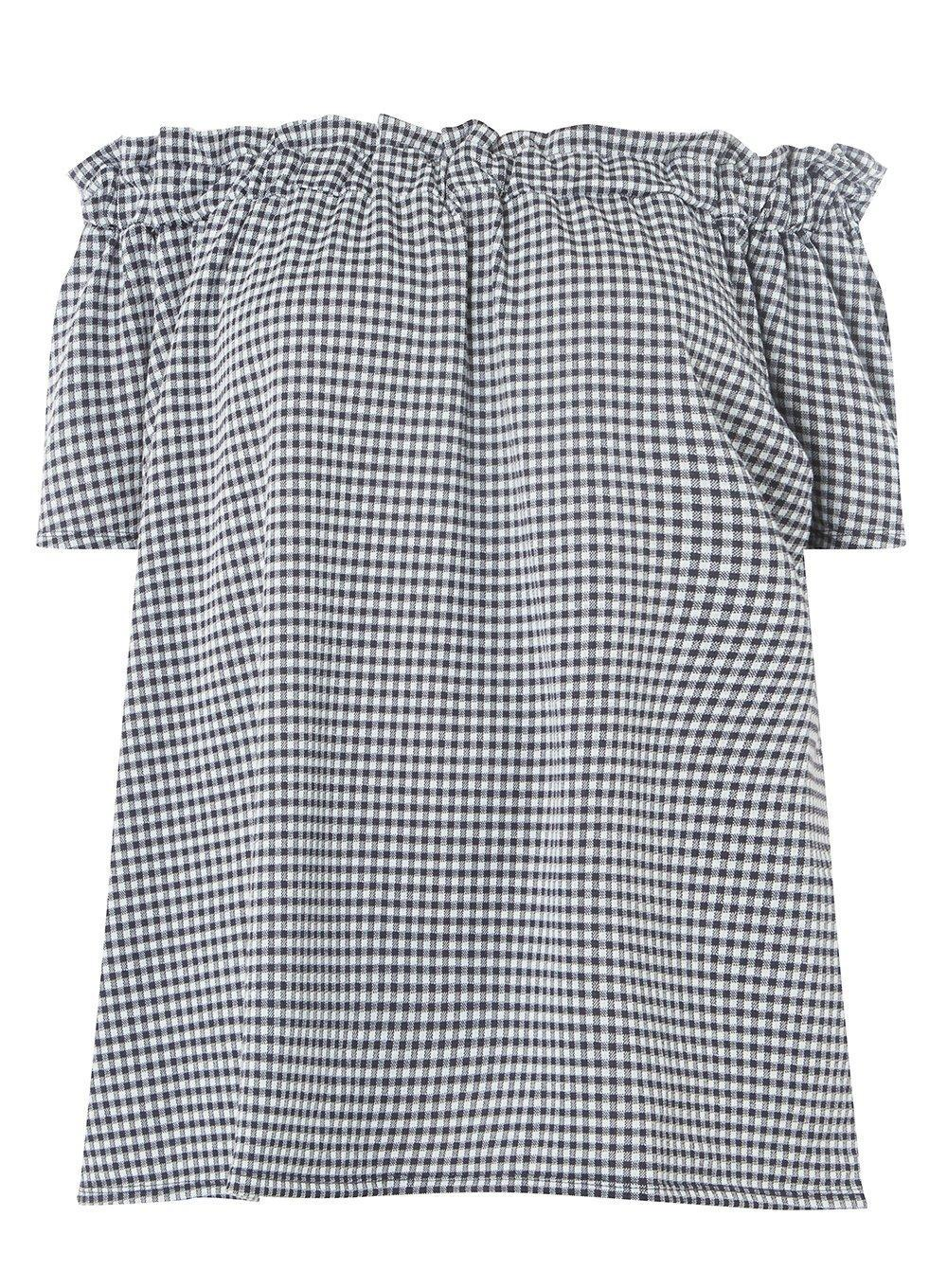 Dorothy Perkins Womens Blush Striped Broderie Bardot Top- Online Sale 8BQt2