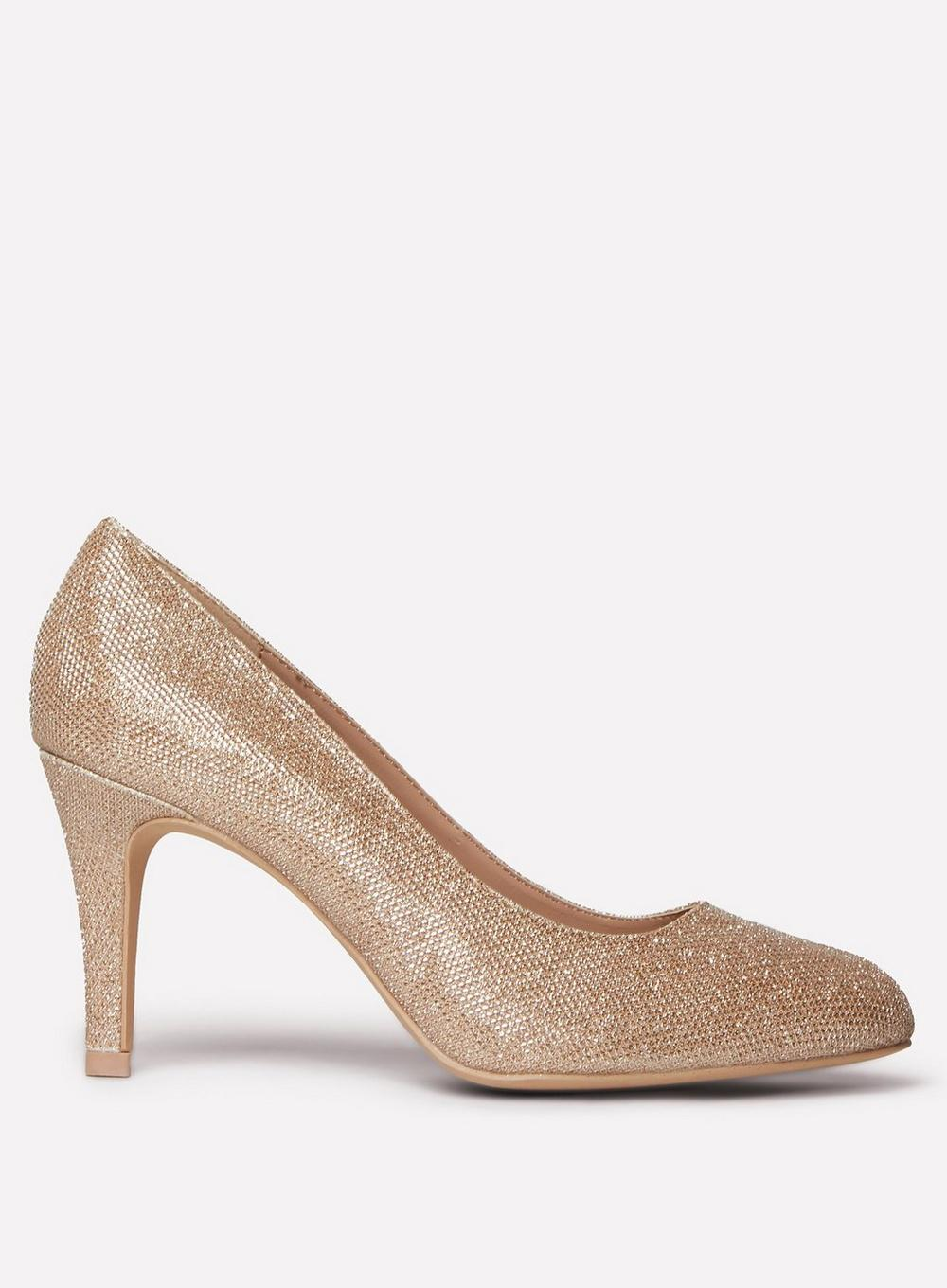 ee6786c51b Dorothy Perkins. Women s Metallic Wide Fit Gold  dallas  Court Shoes