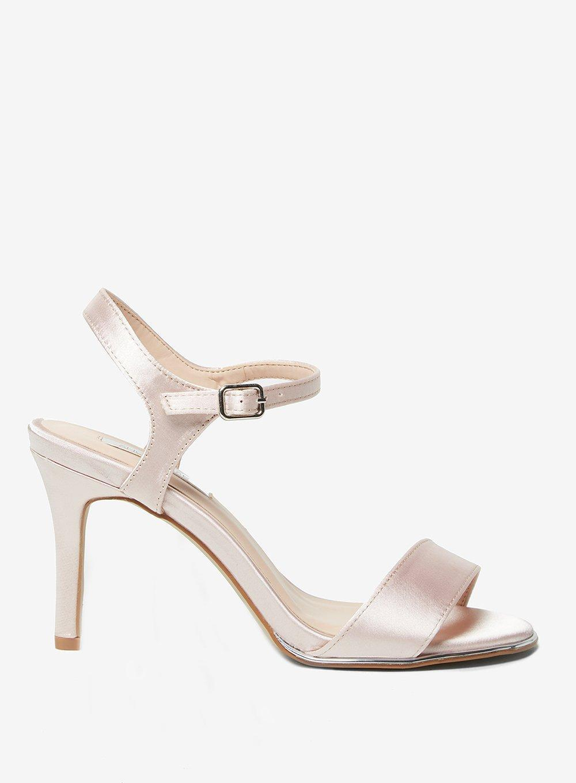 2edb8034e5093 Lyst - Dorothy Perkins Showcase Blush 'selina' Sandals in Pink