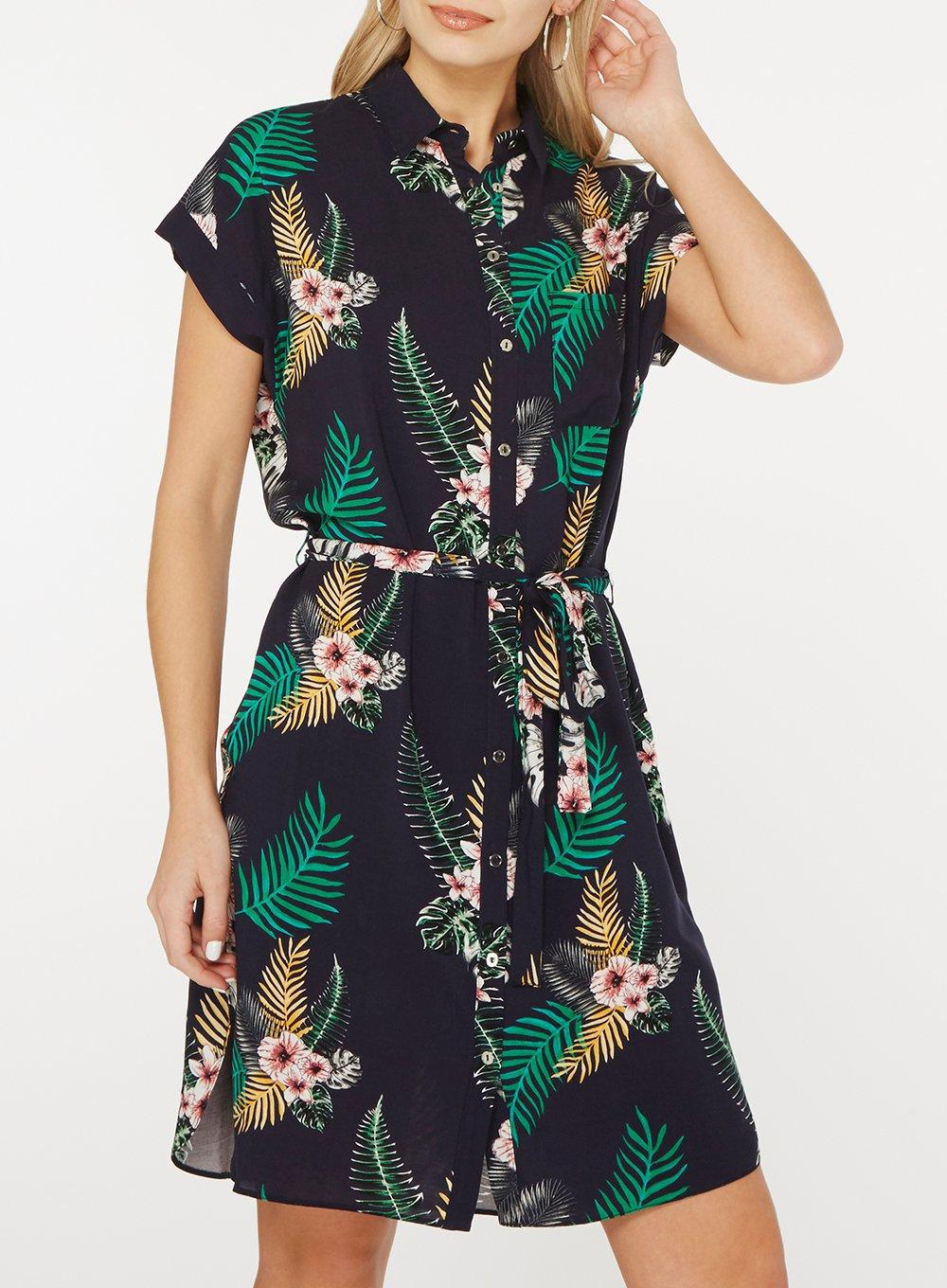 a67fcc6f85b Gallery. Previously sold at  Dorothy Perkins · Women s Tropical Print  Dresses Women s Navy Dresses
