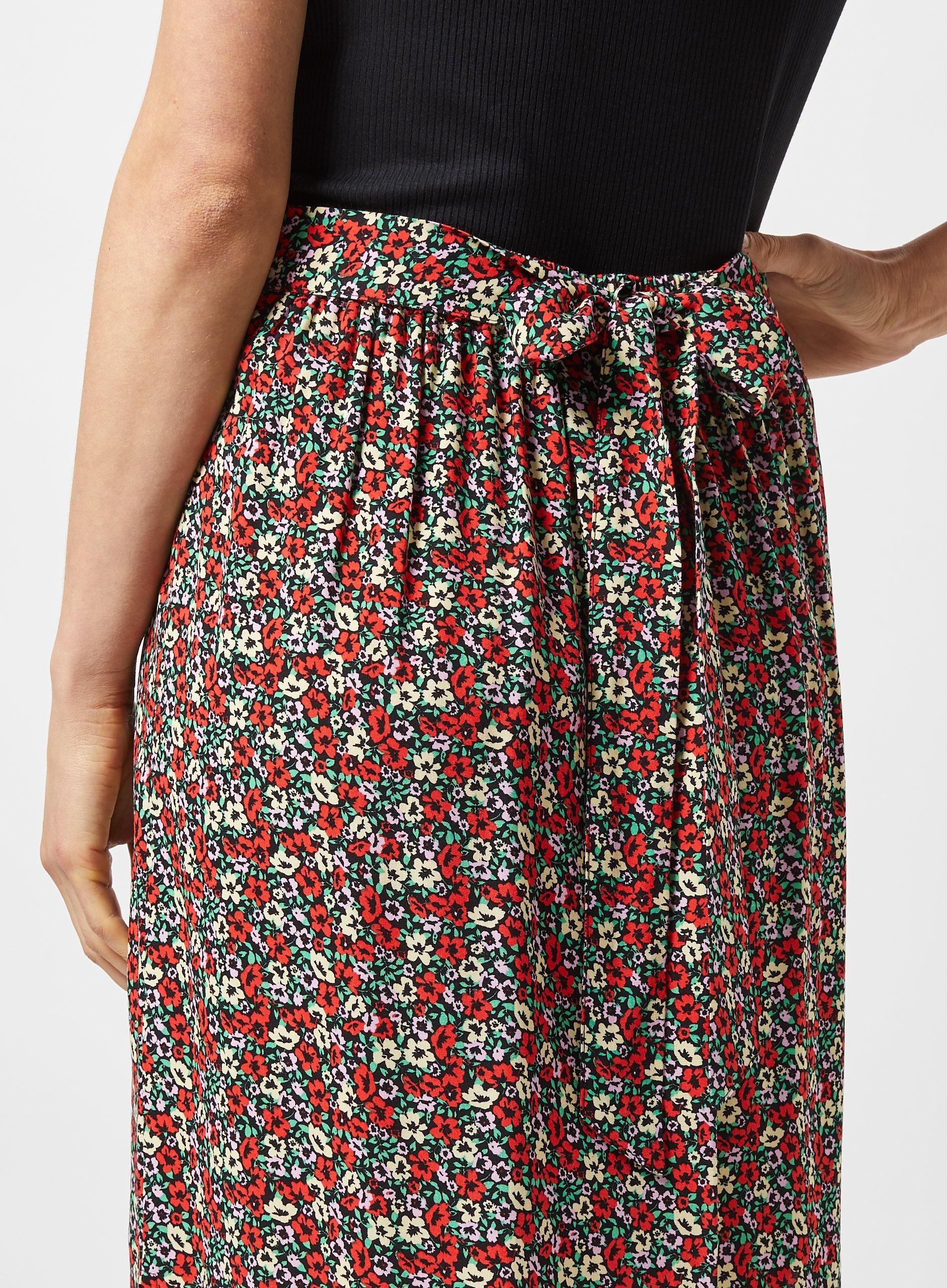 e1e0816998 Dorothy Perkins - Multicolor Multi Colour Ditsy Print Maxi Skirt - Lyst.  View fullscreen
