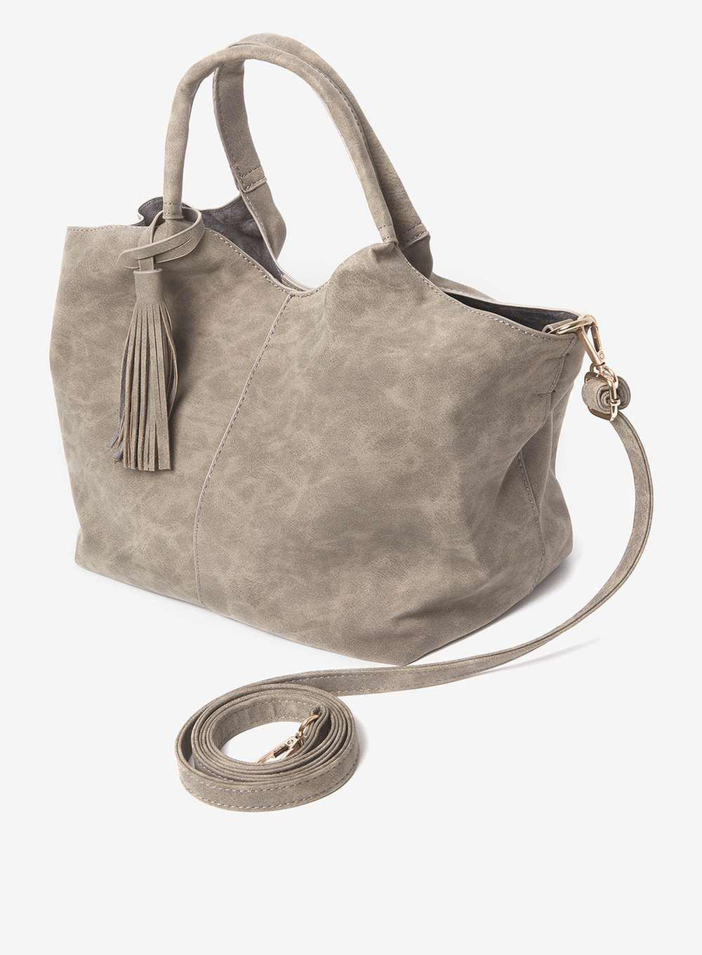Womens Unstructured Hobo Shoulder Bag Grey (Grey) Dorothy Perkins laYHprb7