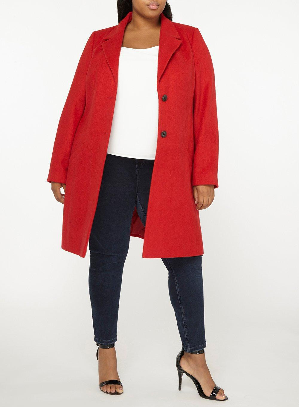 d02cbf65746 Dorothy Perkins - Dp Curve Red Duster Coat - Lyst. View fullscreen