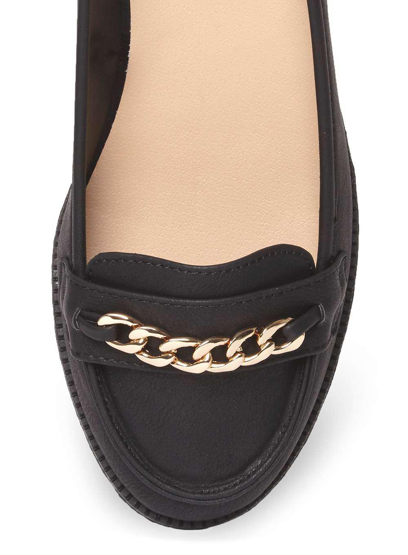 d7940ecc653 Lyst - Dorothy Perkins Wide Fit Black  lipstick  Loafers in Black