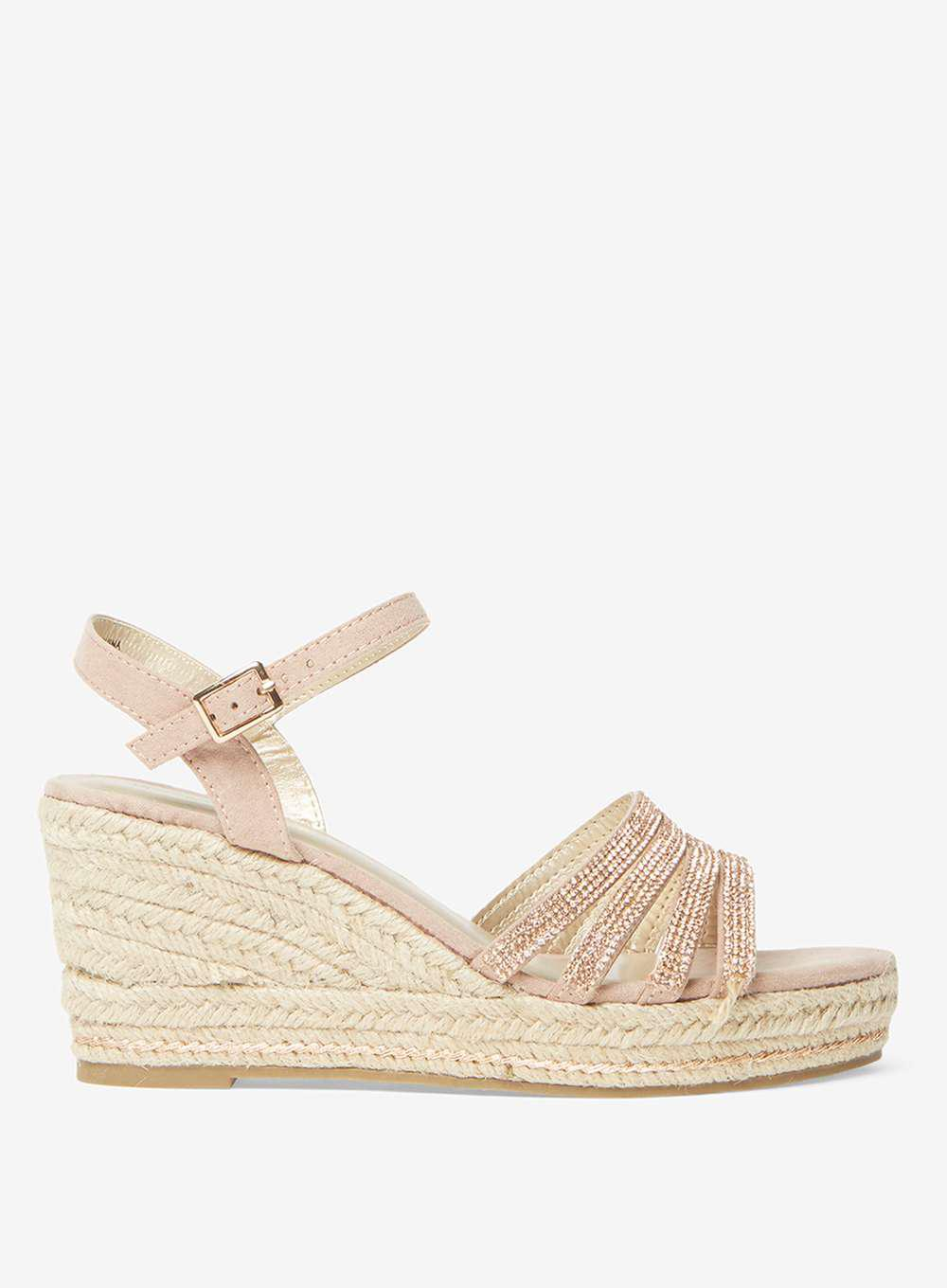 33ad47a14a9 Dorothy Perkins Rose Riley Pink Espadrille Wedge Sandals in Pink - Lyst