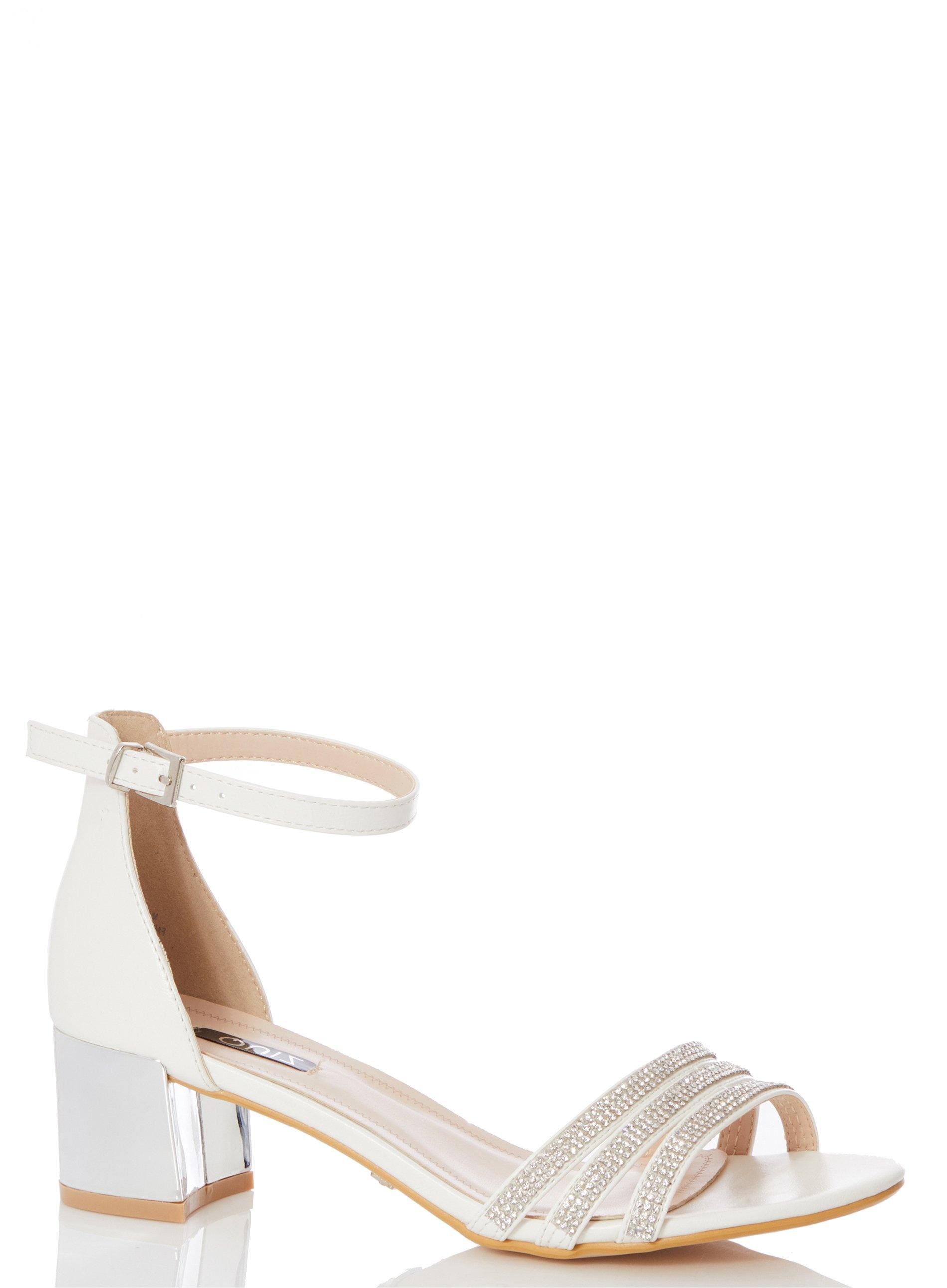 7f44b5c52ed Dorothy Perkins. Women s White Quiz Bridal Diamante Strap Heeled Sandals