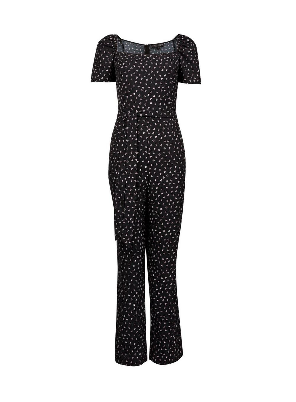 268f61b3301 Lyst - Dorothy Perkins Black Square Neck Jumpsuit in Black
