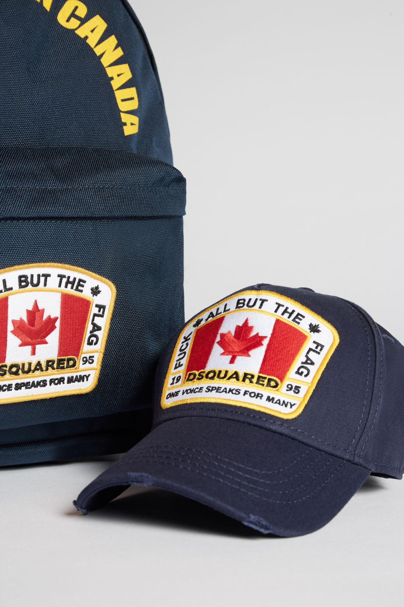 7dde714c60d00 DSquared² - Blue Canada Patch Baseball Cap for Men - Lyst. View fullscreen
