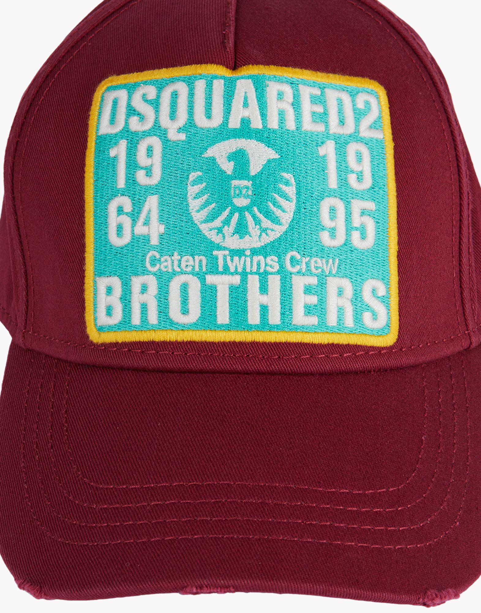 111dee71ec714 Lyst - DSquared² D2 Brothers Baseball Cap in Red for Men