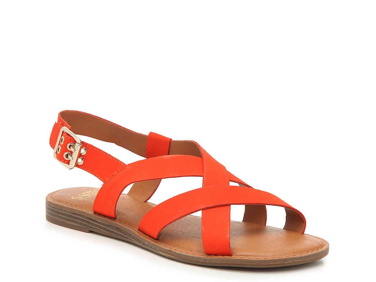 3405c949c54088 Lyst - Franco Sarto Galavant Sandal in Orange
