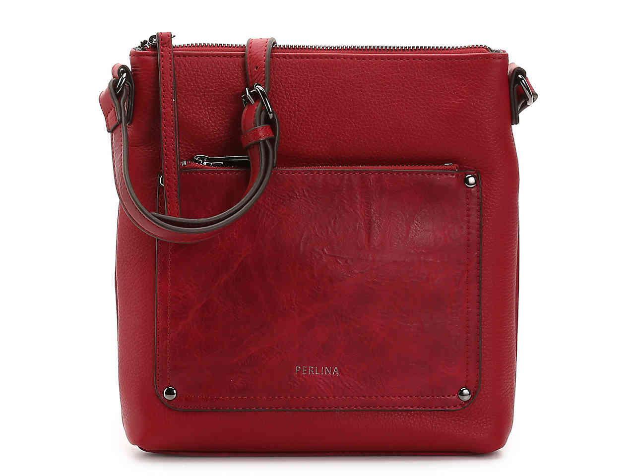 4ef5cf5a3d01 Lyst - Perlina Judi Leather Crossbody Bag in Red