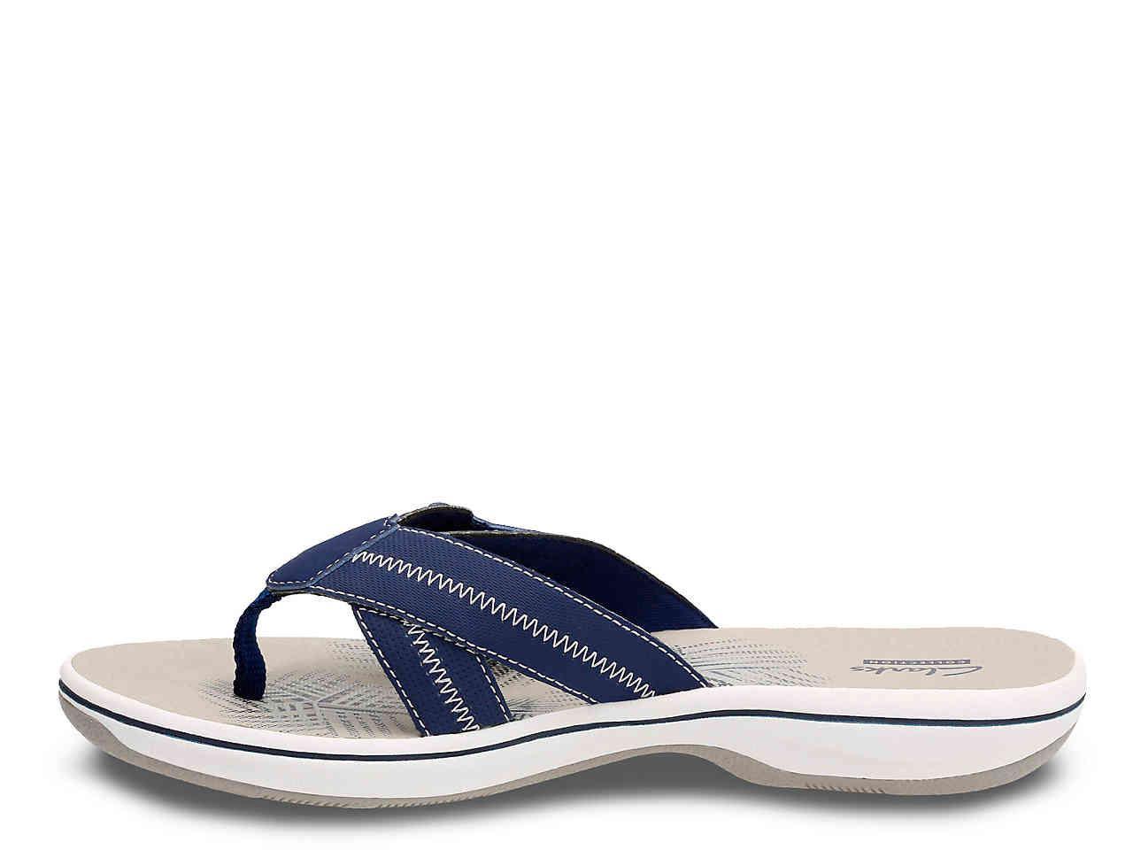 2a9dfc1b7c0 Lyst - Clarks Brinkley Calm Flip Flop in Blue