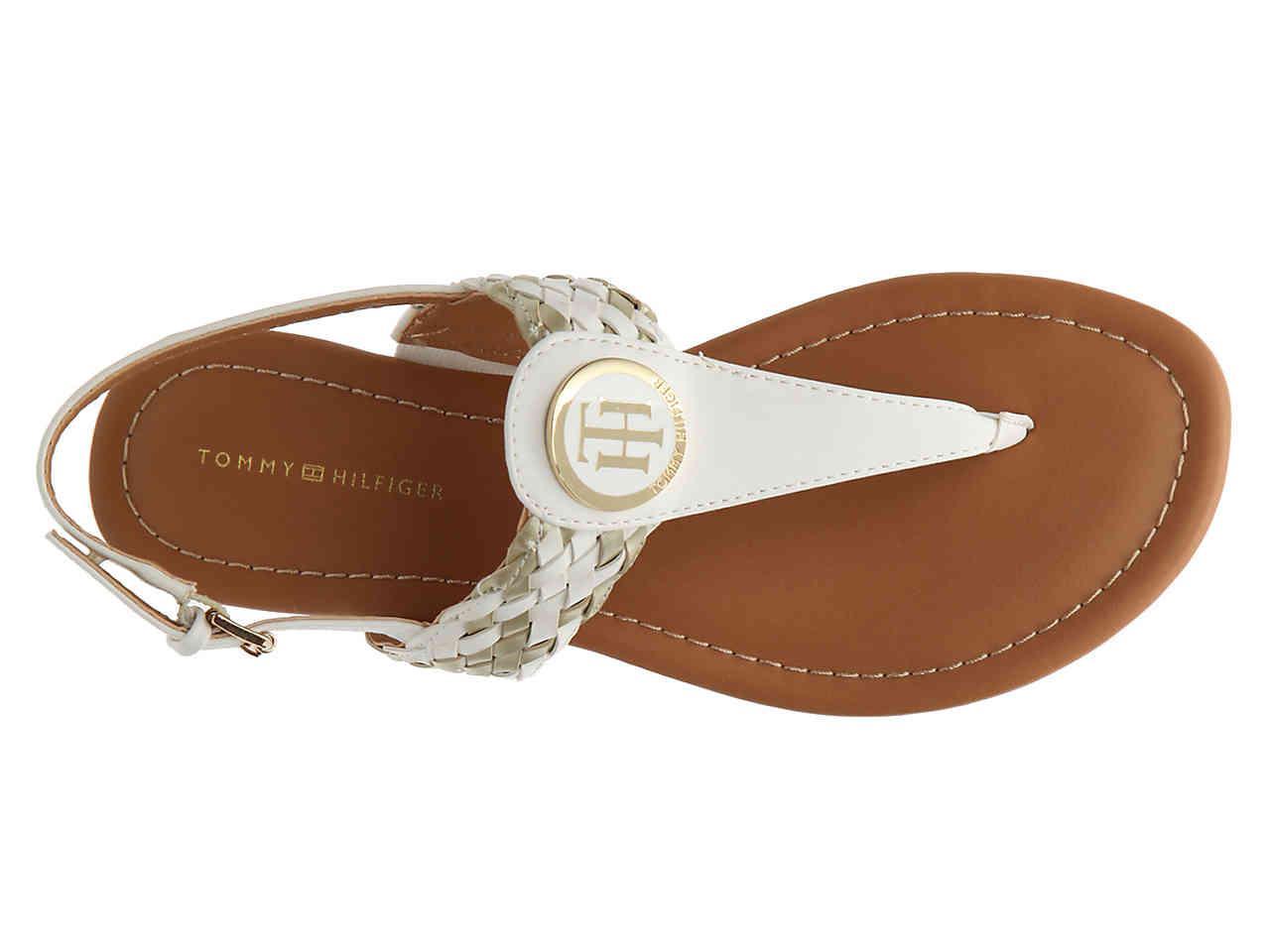 611daf1935ee40 Lyst - Tommy Hilfiger Junip Flat Sandal in White