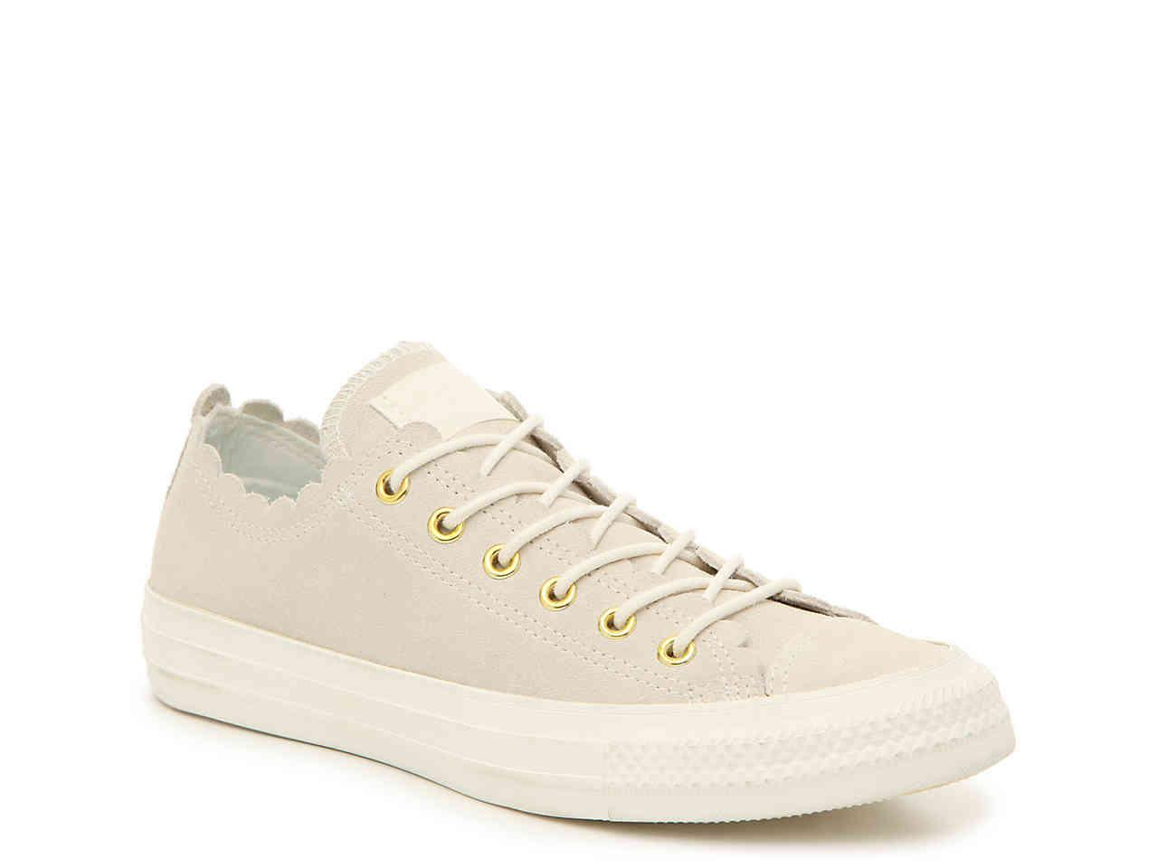 ba2332c870 Converse Chuck Taylor All Star Scallop Sneaker in White - Lyst