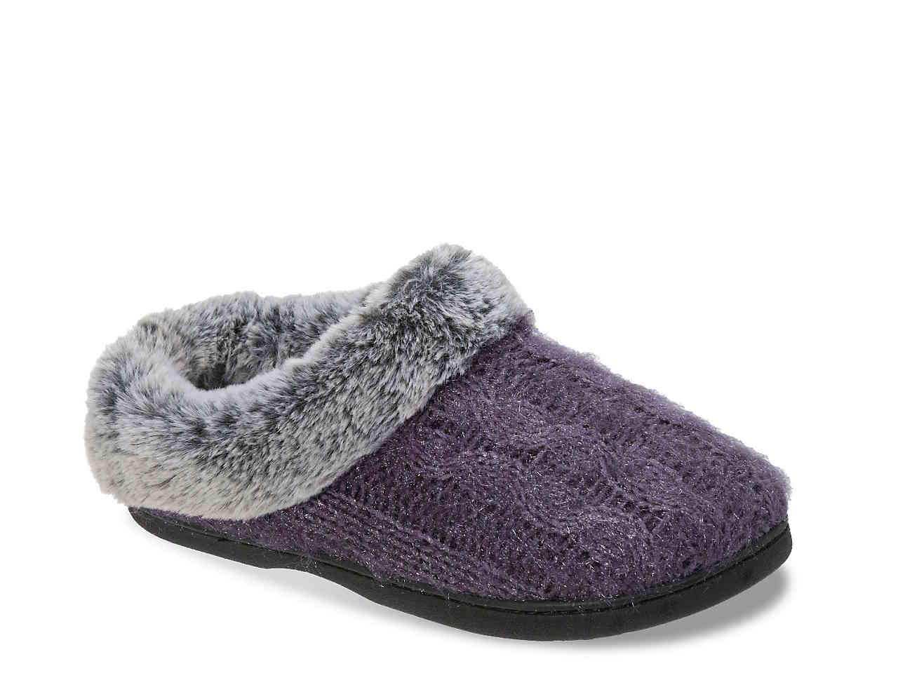 a0deb84383d7 Lyst - Nine West Luxe Cable Knit Slipper in Gray