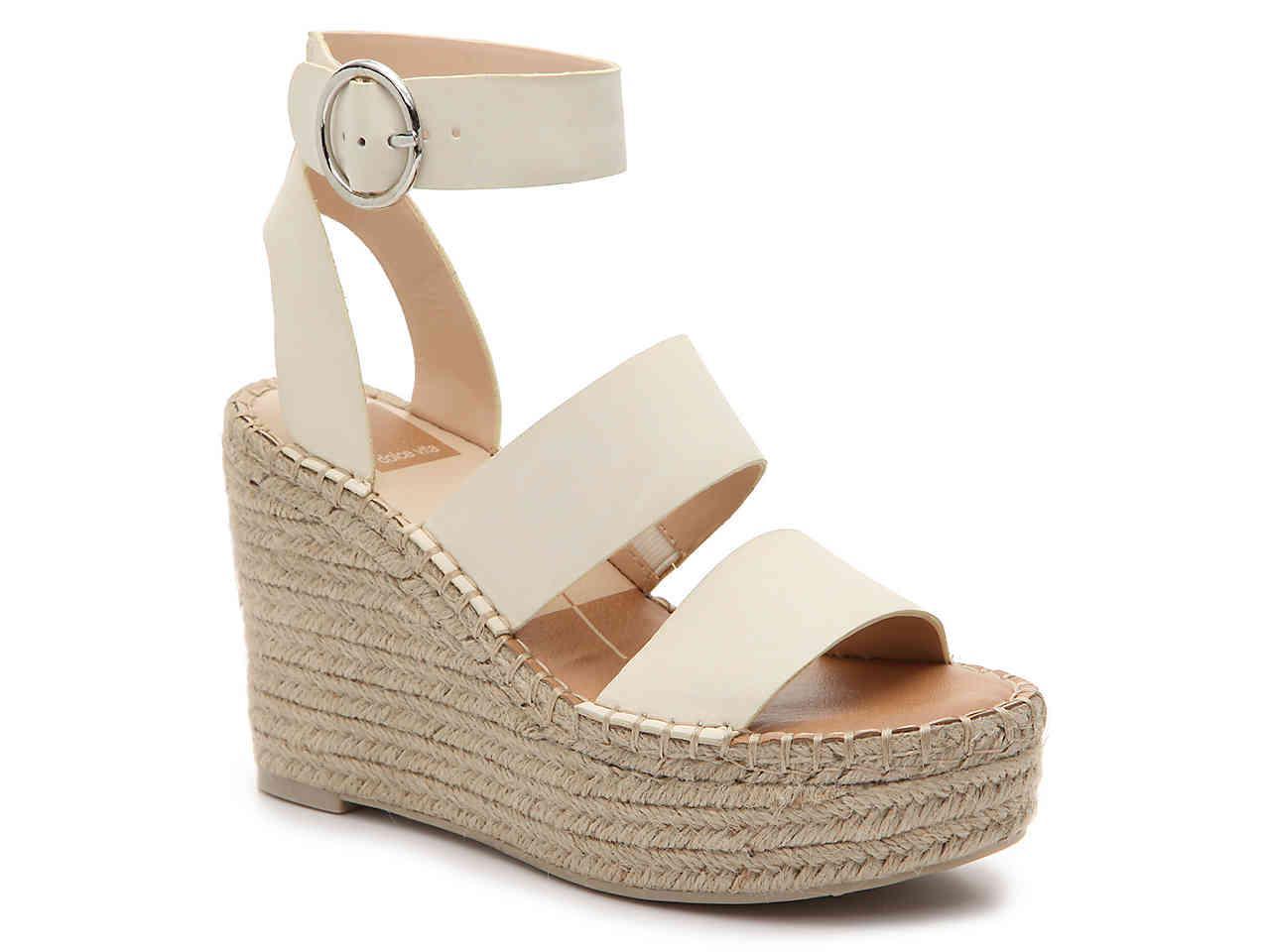 94a1c2ec9b04 Dolce Vita Shae Espadrille Wedge Sandal in White - Lyst