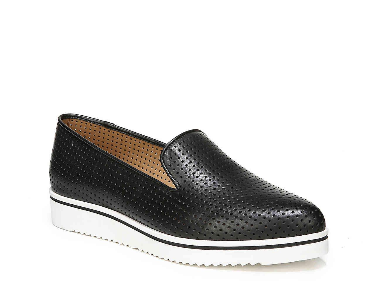 8ea90592044e Lyst - Franco Sarto Fabrina Wedge Loafer in Black