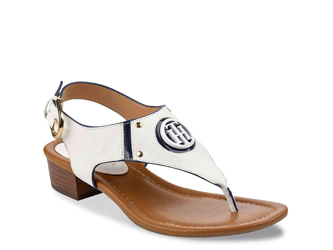 6ce52dbf40a8 Lyst - Tommy Hilfiger Kissi Sandal in White