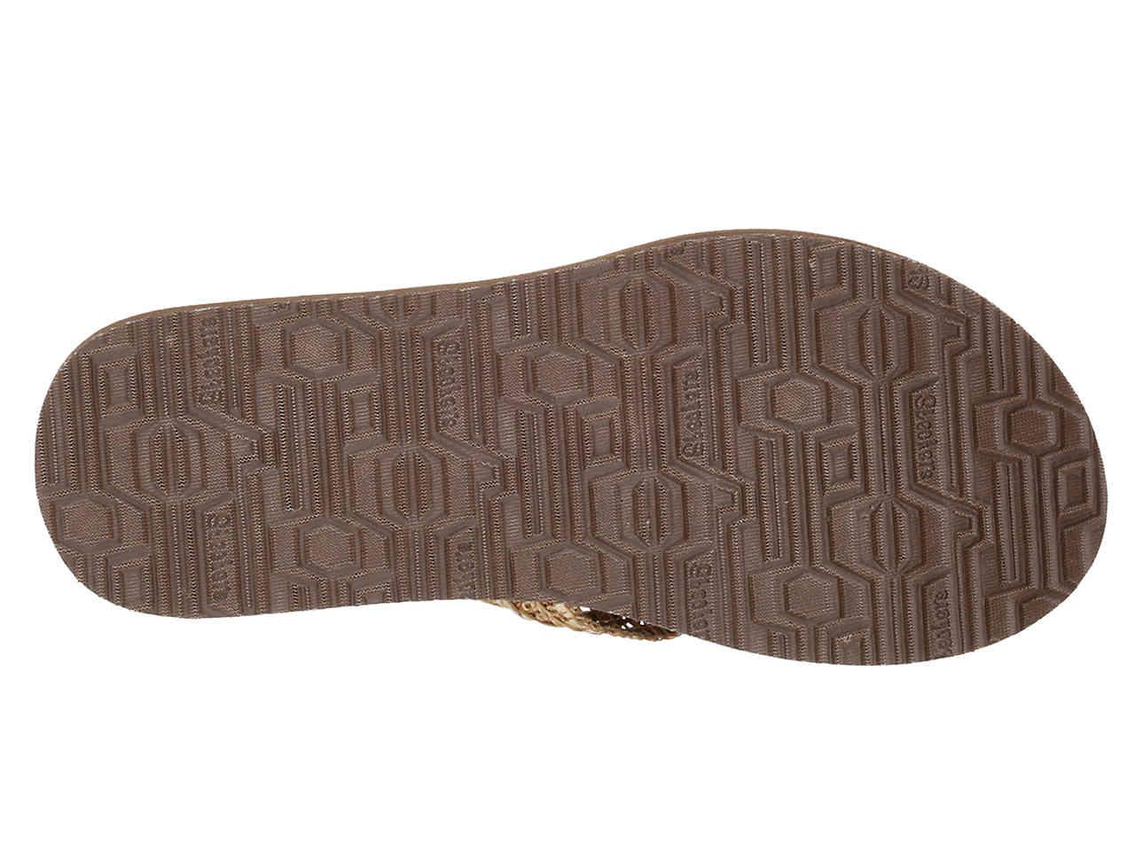 f17a45d6fad2 Lyst - Skechers Zen Summer Flip Flop in Natural