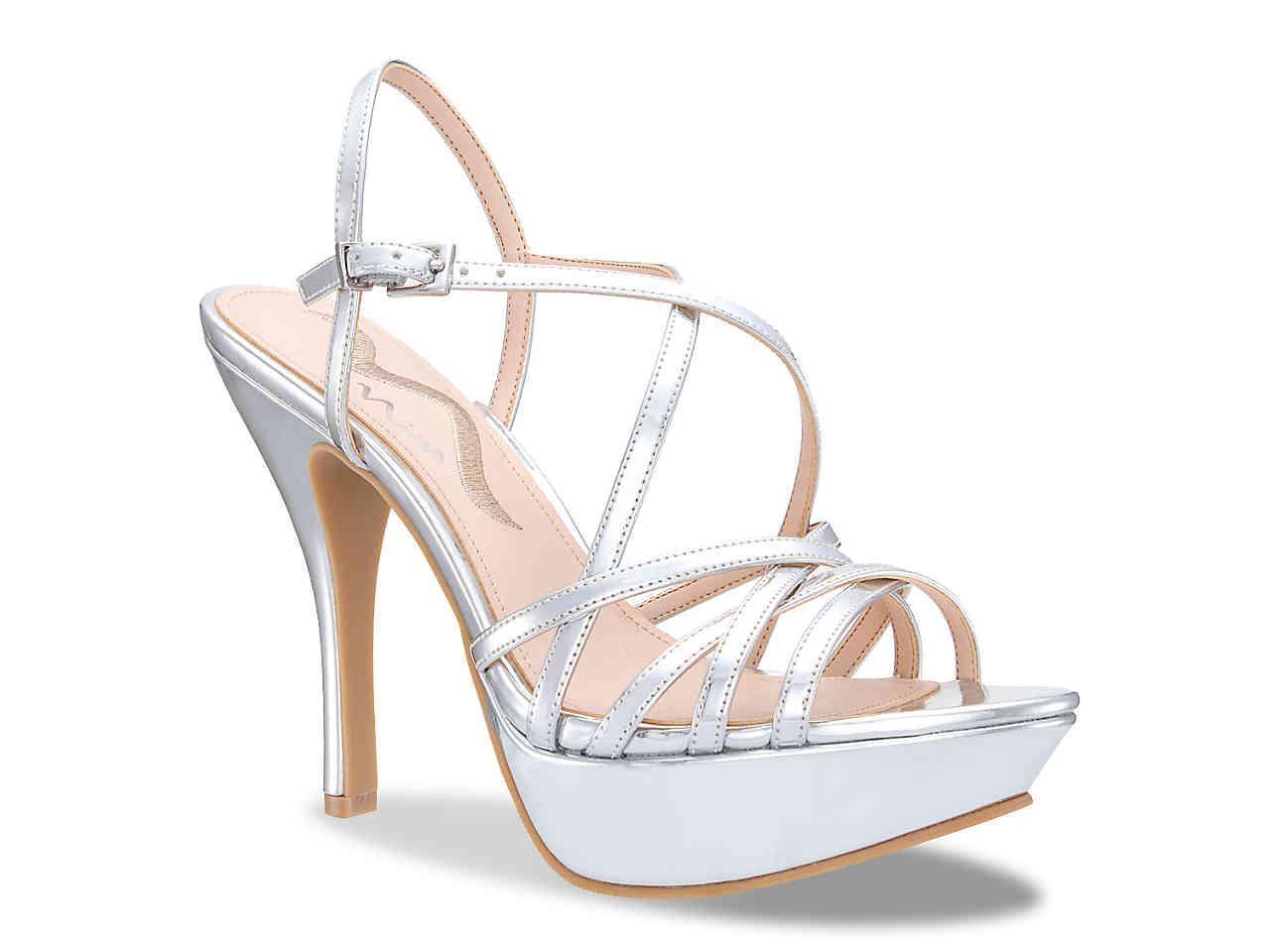 92af4261f36 Lyst - Nina Jerolyn Platform Sandal in Metallic