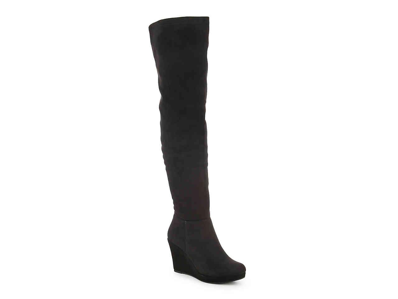 25f2a6c9971 Lyst - Chinese Laundry Leah Wedge Over The Knee Boot in Black
