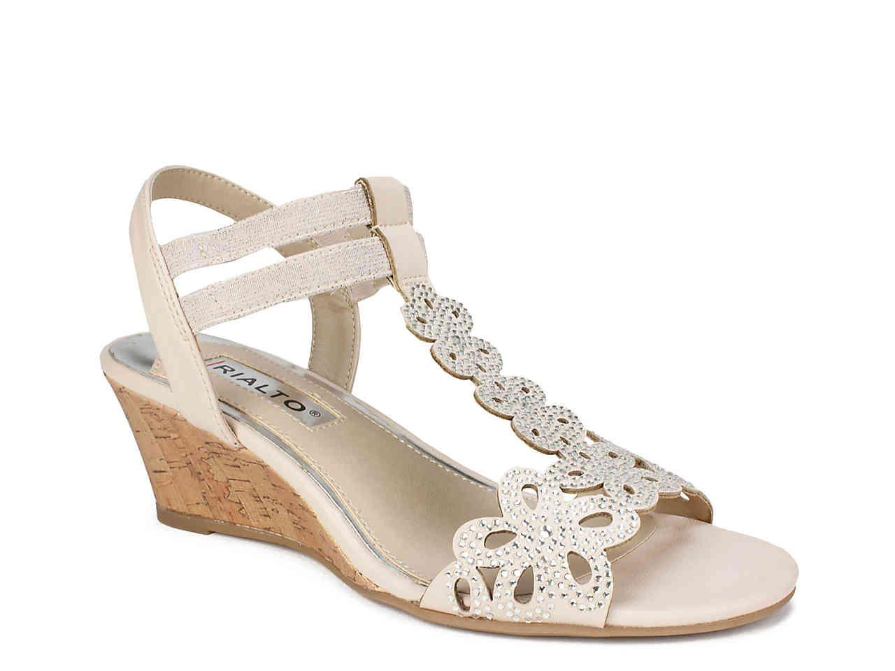 aa7e6a32800 Lyst - Rialto Cafell Wedge Sandal in Metallic