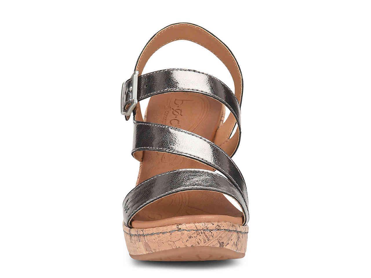 356ac888a54 Lyst - b.ø.c. Schirra Wedge Sandal in Metallic
