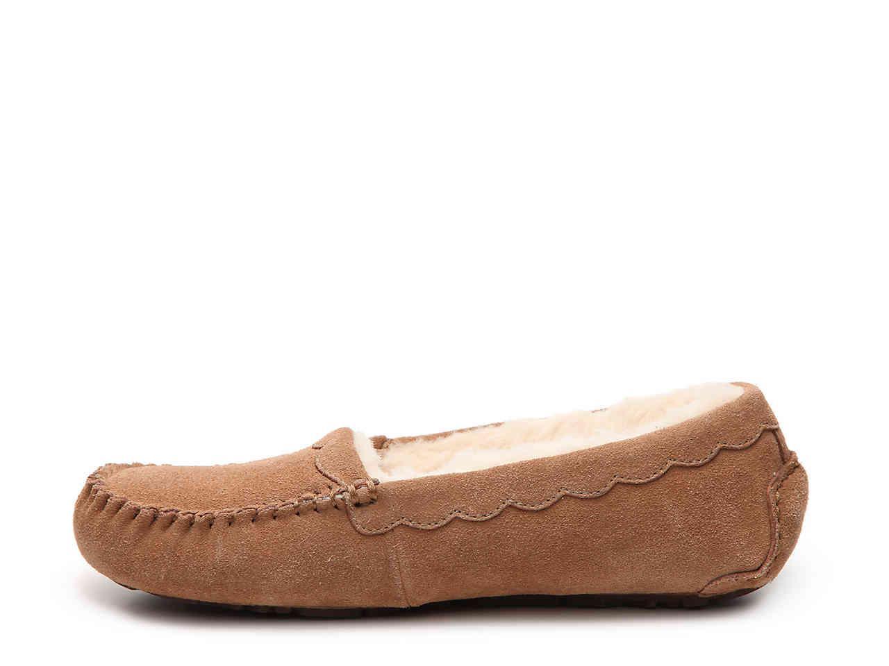 2e9c3de2b0b7 Lyst - UGG Australia Scallop Suede Slipper in Brown
