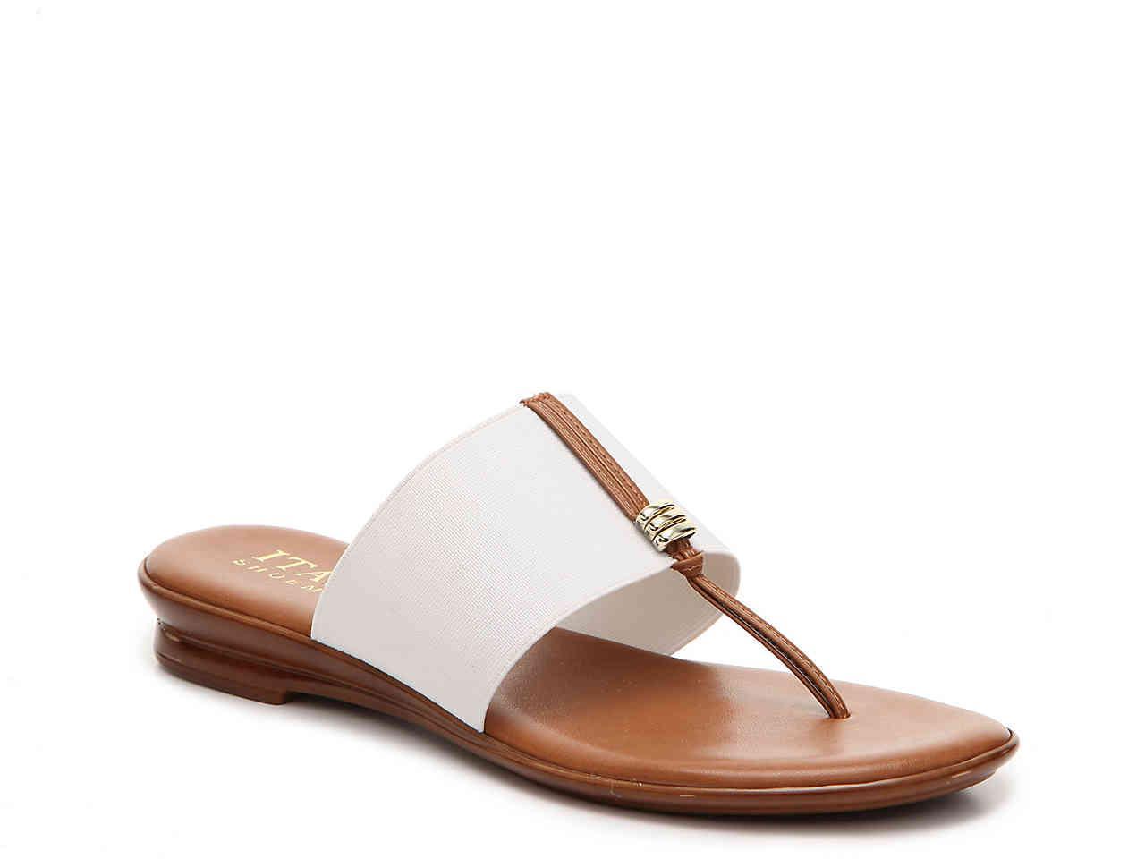 f502cf813865 Lyst - Italian Shoemakers Sutton Sandal in White
