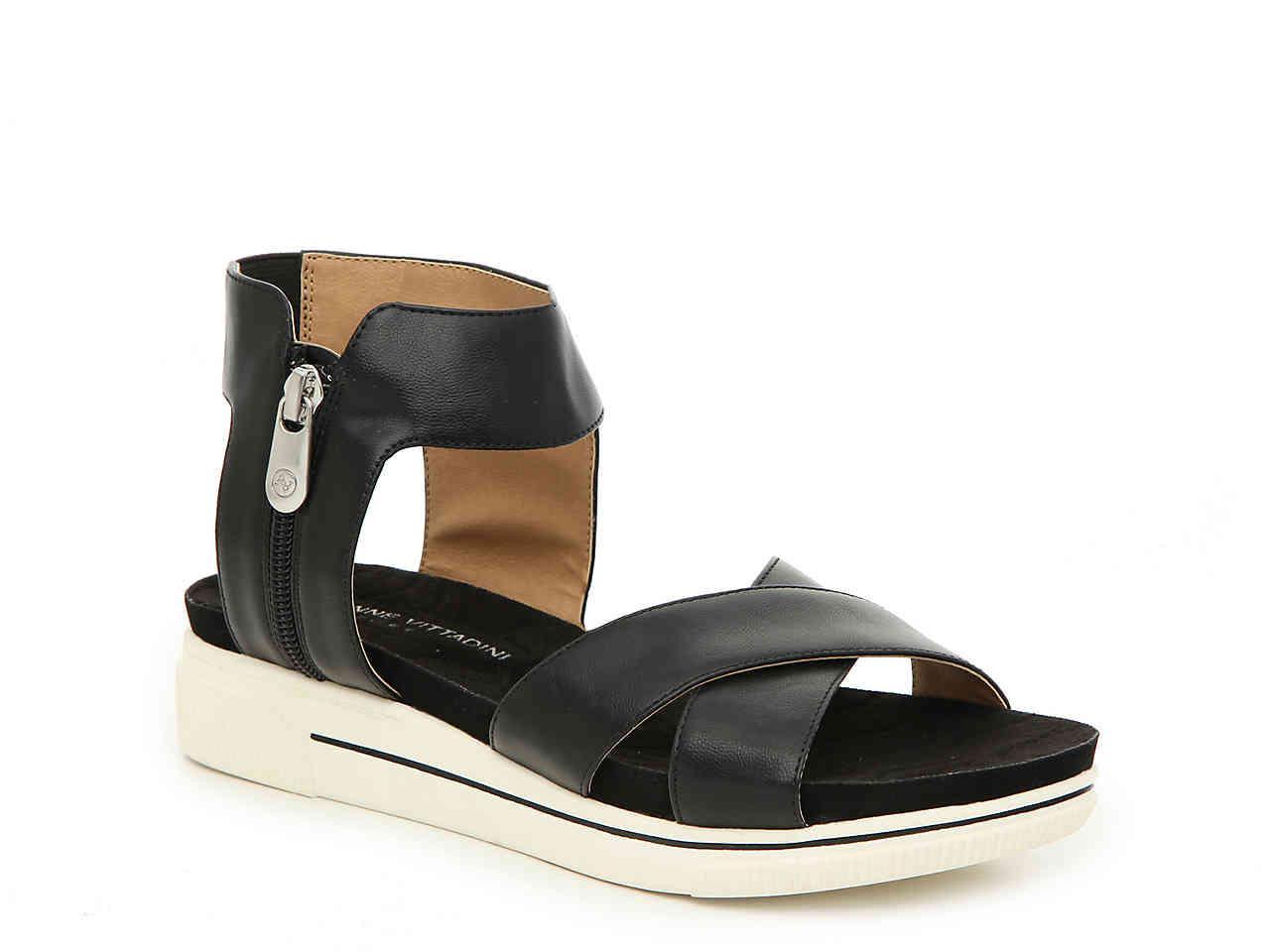 2058652a0cfa Lyst - Adrienne Vittadini Sport Casey Wedge Sandal in Black