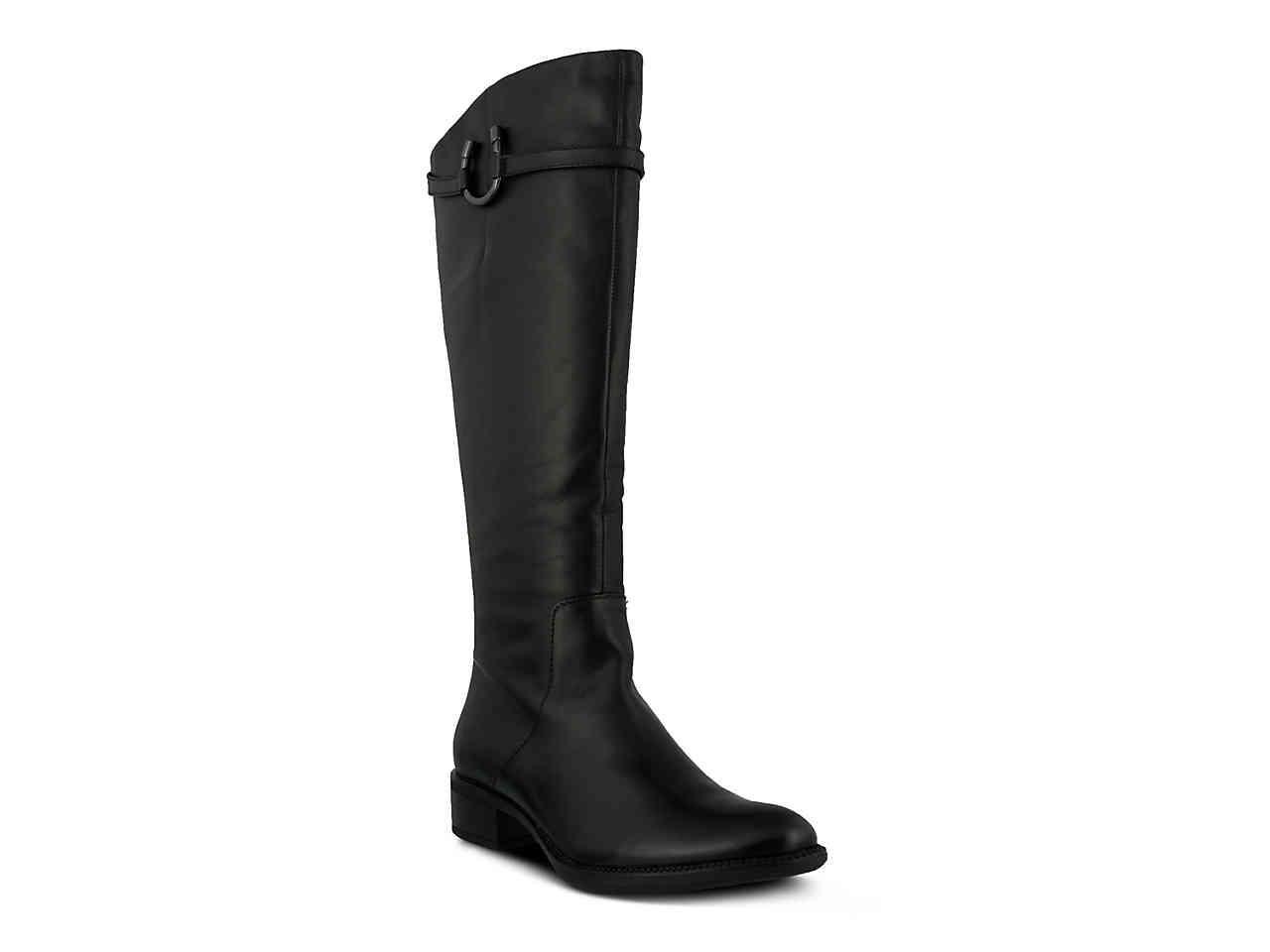 Spring Step. Women's Black Delano Riding Boot